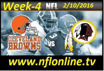 Cleveland Browns vs Washington Redskins NFL Stream