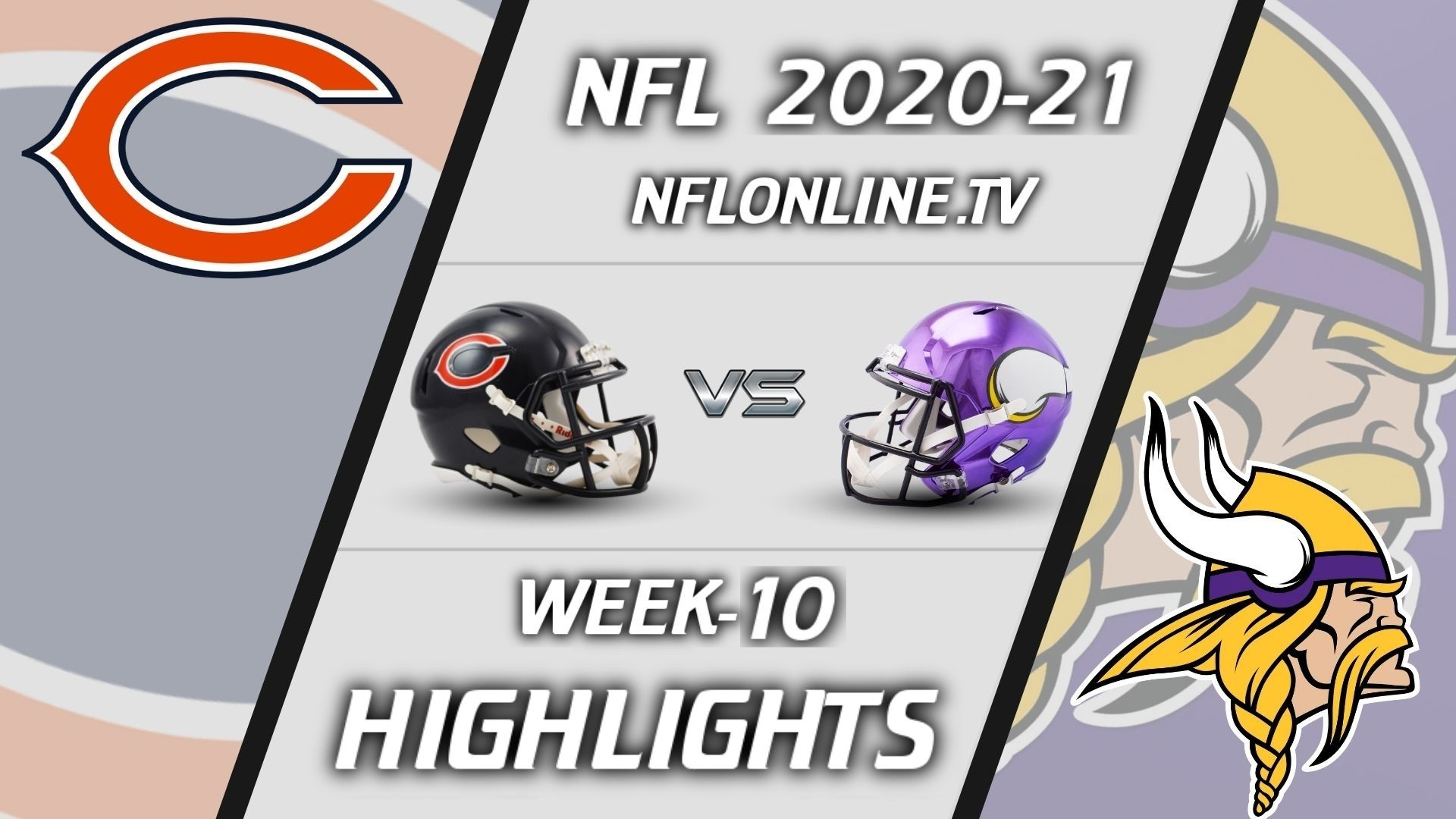 Bears vs Vikings Highlights 2020 WK 10
