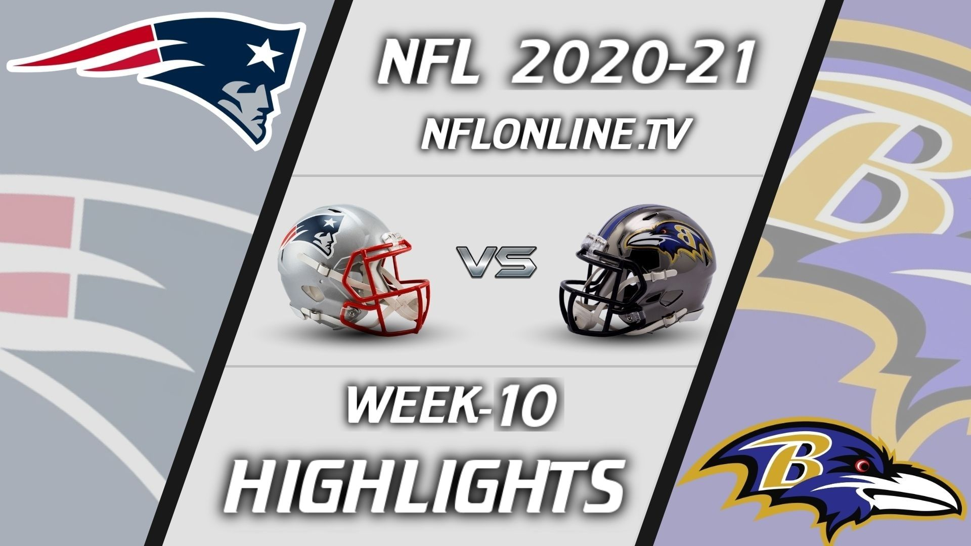 Patriots vs Ravens Highlights 2020 WK 10