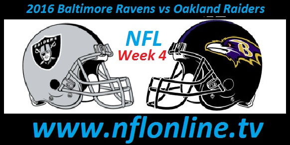 Baltimore Ravens vs Oakland Raiders stream