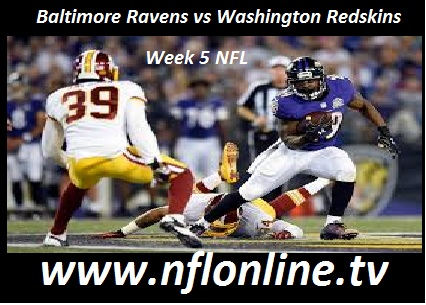 Baltimore Ravens vs Washington Redskins live