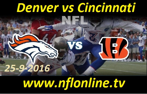 Denver vs Cincinnati live