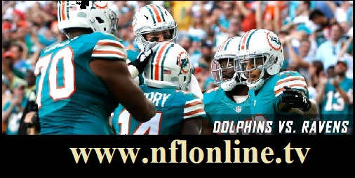 Miami Dolphins vs Baltimore Ravens live
