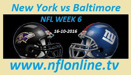 New York Giants vs Baltimore Ravens live