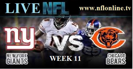 New York Giants vs Chicago Bears LIVE