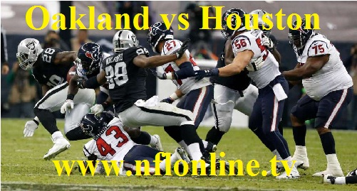 Raiders vs Texans live