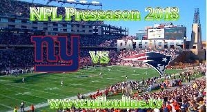 Patriots vs Giants NFL 2018 Streaming
