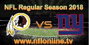 Redskins VS Giants 2018 live streaming